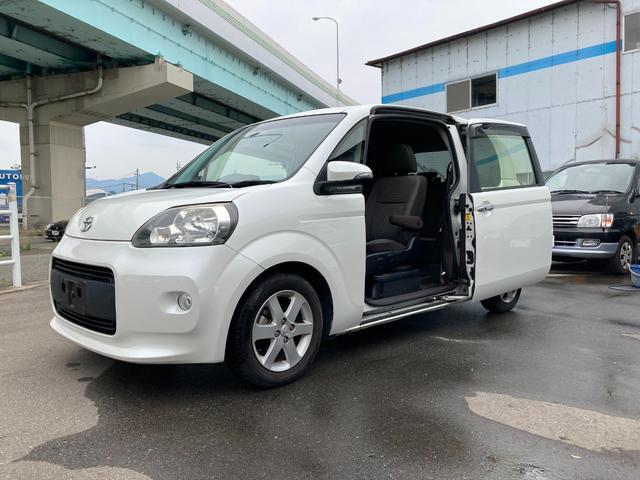 トヨタ ポルテ X 助手席リフトアップシート車 手動車いす用収納装置 福祉車両