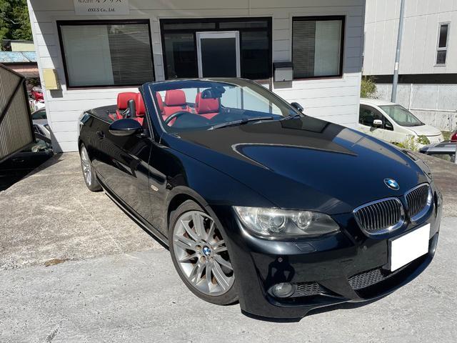BMW 335iカブリオレ Mスポーツパッケージ 純正HDDナビ 整備記録簿 赤革シート  前後コーナーセンサー クルーズコントロール
