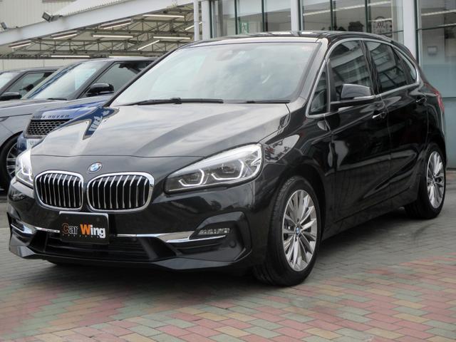 BMW 2シリーズ 218dアクティブツアラー ラグジュアリー メタリックペイント コンフォートパッケージ パーキングサポートパッケージ リヤカメラ PDC オートマチックテールゲート コンフォートアクセス ブラックレザー パワーシート シートヒーター