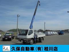 キャンター3段タダノクレーンフックイン 3方開  Wタイヤ 2t