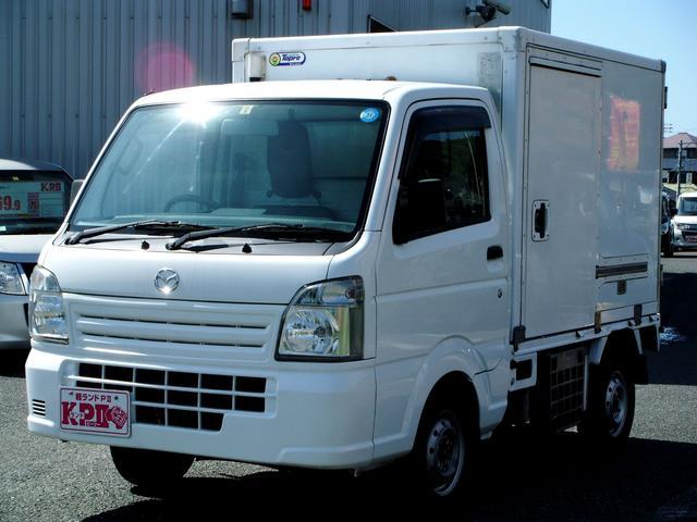マツダ  冷蔵冷凍車/オートマ/庫内設定マイナス5から30/運転席エアバック/ヘッドライトレベライザー/純正ラジオ/純正ドアバイザー