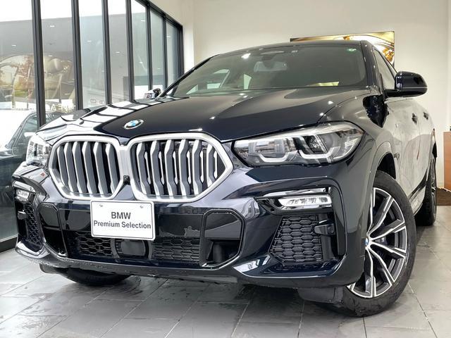 BMW X6 xDrive 35d Mスポーツ 弊社デモカー ウェルネスPKG パノラマSR 茶レザーシート 純正HDDナビ 20インチAW