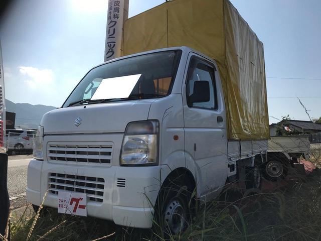 スズキ キャリイトラック KC 幌付き AC MT5速車 軽トラック