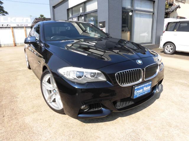 BMW 5シリーズ 523i Mスポーツパッケージ 本革メモリー付きパワーシート・純正ナビ&地デジ・Bluetoothオーディオ・オプション19インチAW