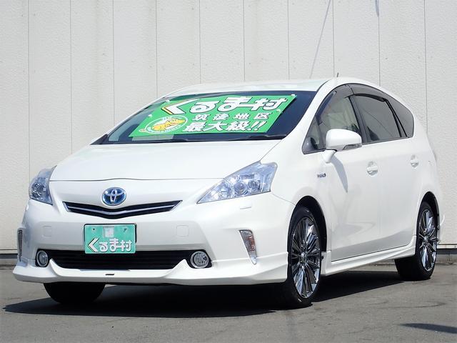 トヨタ G 8型HDDナビ モデリスタエアロ 革調シートカバー 5人