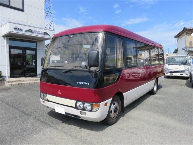三菱ふそう 29人乗り カスタム ターボ 自動ドア リクライニングシート