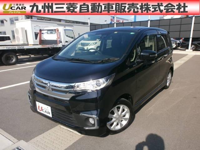 三菱 eKカスタム Gセーフティパッケージ ワンオーナー シートヒーター ABS