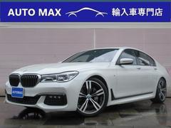 BMW740iMスポーツ 茶革 サンルーフ リア左右モニター