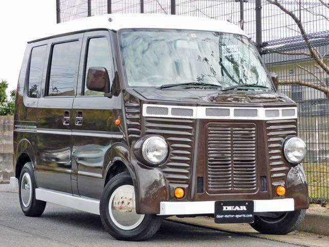 スズキ エブリイ PA ハイルーフ 全塗装済 フレンチバス仕様 革調シートカバー