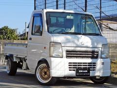 キャリイトラックKCエアコン・パワステ 3方開 4WD オーバーフェンダー・14インチAW・マフラー