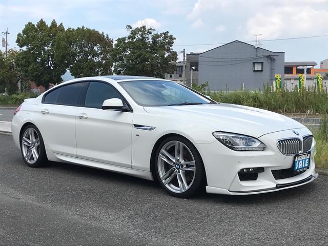 BMW 6シリーズ 640iグランクーペ Mスポーツパッケージ 社外マフラー 革シート サンルーフ AW オーディオ付 クルコン AC AT HID ローダウン スポイラー シートヒーター