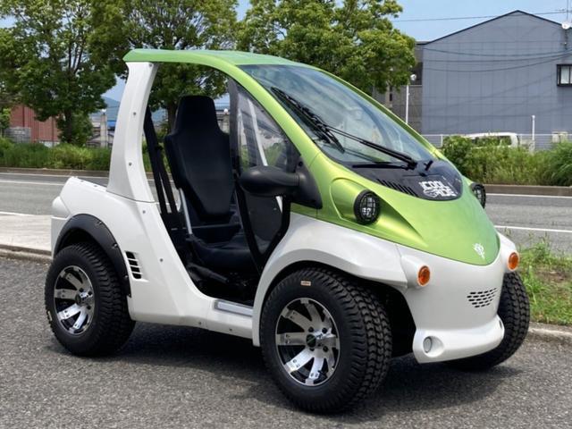 トヨタ トヨタ  コムス COMS USメーカーホイール ワイドタイヤ オーバーフェンダー ライトガード 小型電気自動車EV B・COMデリバリー 家庭用100V充電 キャンバスドア・デリバリーボックス・充電コードあり
