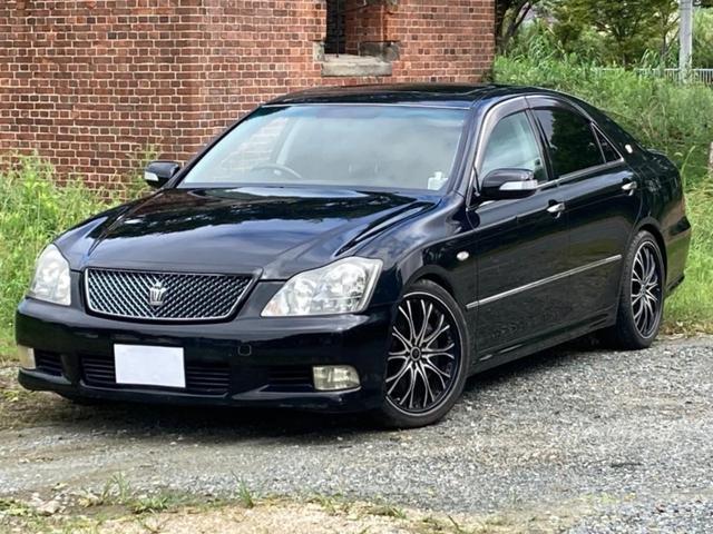 トヨタ アスリート 60thスペシャルエディション サンルーフ 黒革パワーシート 純HDDナビ 社外19インチアルミホイール