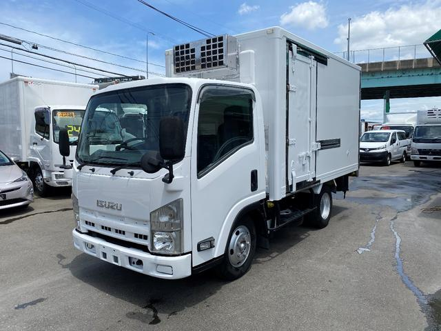 いすゞ エルフトラック 2トン低温冷凍 スタンバイ 2エバー オートマ 荷室仕切り付