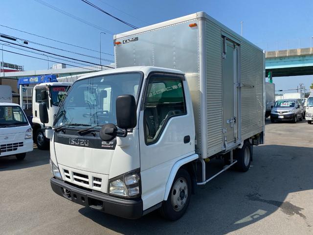 いすゞ エルフトラック  2トン標準セミロングアルミバンパワーゲート オートマ バックカメラ
