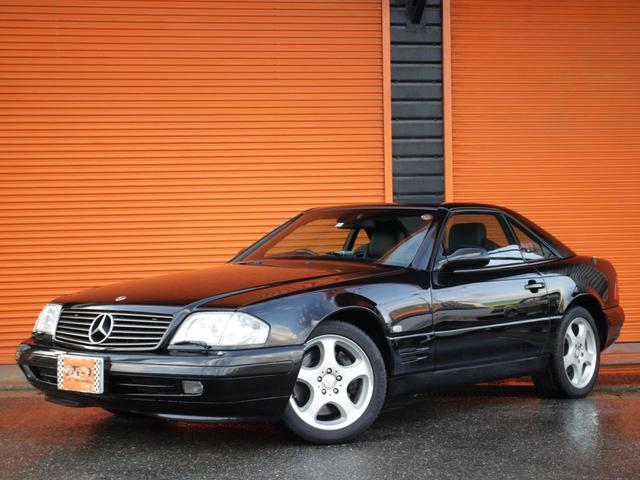メルセデス・ベンツ SL320 正規D車右H最終V6型黒革S電動OP社外ナビTV