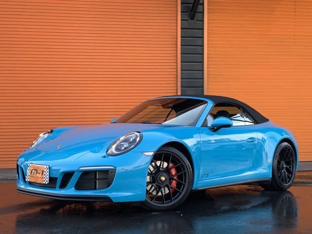 ポルシェ 911 911カレラGTS カブリオレ スポーツクロノPKG・スポーツエグゾースト・純正7速・日本未発売モデル・レザーインテリア・アーミートリックス可変マフラー・GTSセンターロック20インチAW・電動OP
