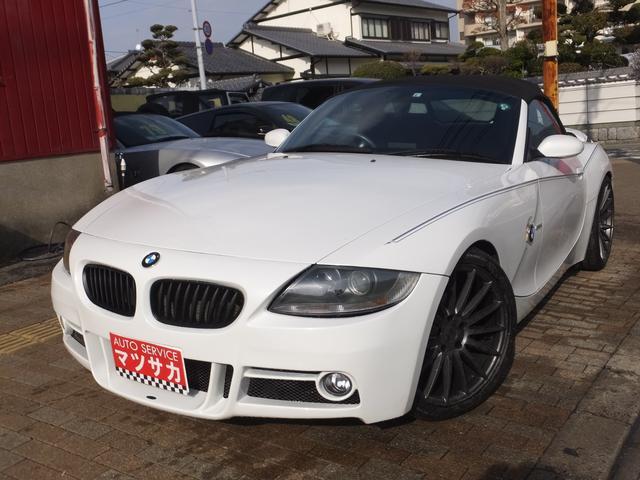 BMW Z4 ロードスター2.5i 電動オープン 社外20インチAW 社外マフラー HDDナビ フルセグTV Bカメラ エアロバンパー 黒革シート
