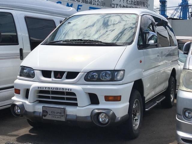 三菱 シャモニー 4WD ETC ミニバン 8人乗り 4AT