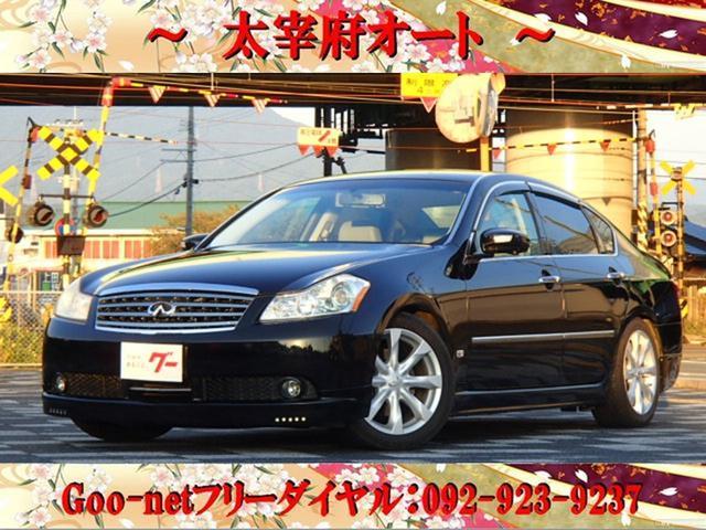 フーガ 350GT 本革シート 革巻きハンドル DVDナビ ETC