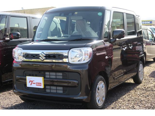 スズキ ハイブリッドX 届出済未使用車 両側電動スライドドア オートエアコン シートヒーター スマートキー