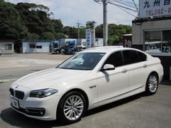 BMW523iラグジュアリー純ナビ 黒皮キセノン 衝突軽減ブレーキ