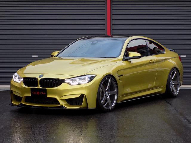 BMW M4 M4クーペ ディーラー車 パワークラフト可変マフラー KW車高調 VOSSEN20inAW カーボンルーフ&エアロ 赤革シート 純正ナビ Bカメラ ハーマンカードン ドライビングアシスト HUD シートヒーター