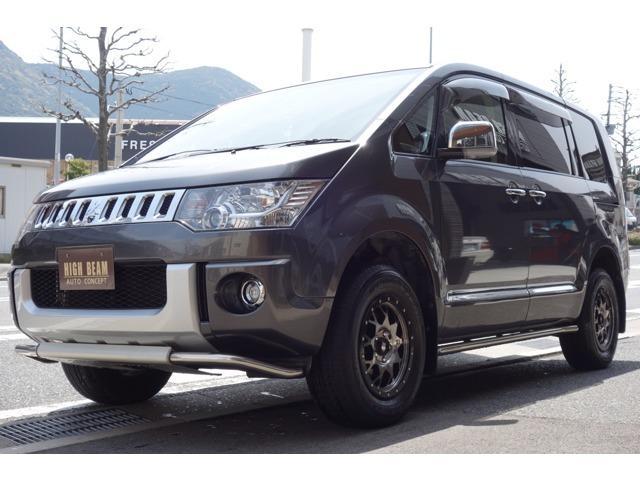 三菱 G プレミアム 4WD SDナビTV 後席TV リフトアップ