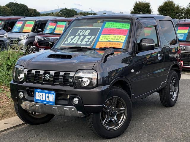 スズキ ジムニー クロスアドベンチャー 9型AT4WD SDナビ レザーシート 9型AT 4WD SDナビ レザーシート フルセグ ETC 記録簿 革巻ハンドル DVD再生 シートヒーター Bluetooth ハードカバー 電格ミラー USB ターボ 純正16AW キーレス
