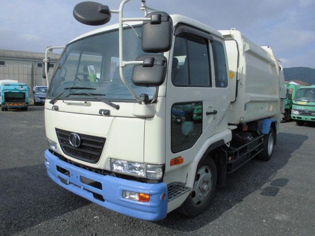 UDトラックス パッカー車 プレス式 7.3立米 押し出し式