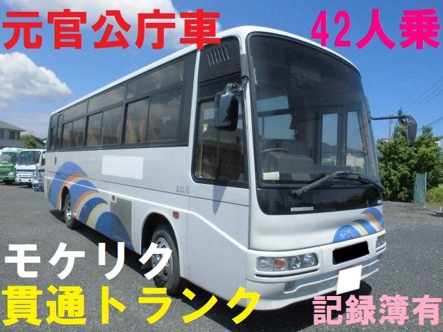 三菱ふそう 三菱ふそう エアロミディ 42人乗 中型バス 貫通トランク 元役所使用車
