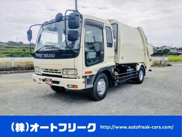 いすゞ 4tパッカー車 プレス式 7.7立米 塵芥車 坂道発進補助