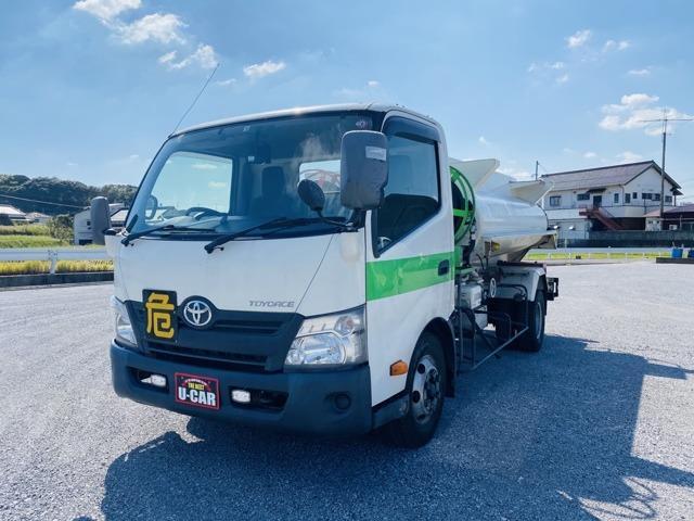 トヨタ  タンクローリー 2層4KL ターボ 消防書類有 Wリール&流量計 ナビ バックカメラ ETC