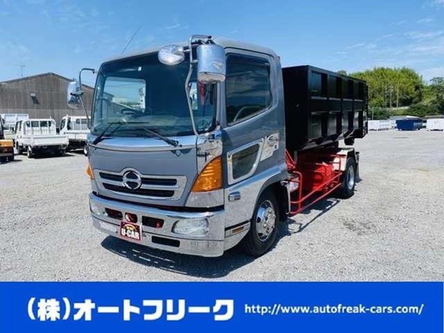 日野 レンジャー  4tアームロール 220馬力 ヒアブ製 新品コンテナ付 メッキパーツ 4トン 仕上済