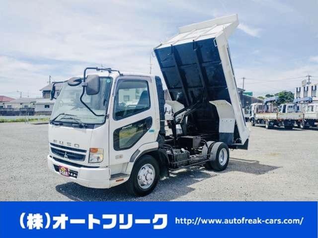 三菱ふそう  4トンダンプ ターボ車 クラッチ有 コボレーン付 ホロ新品張替 210馬力 4t