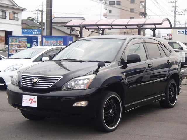 トヨタ 300G 純正DVDナビ 黒革シート 社外ヘッドライト
