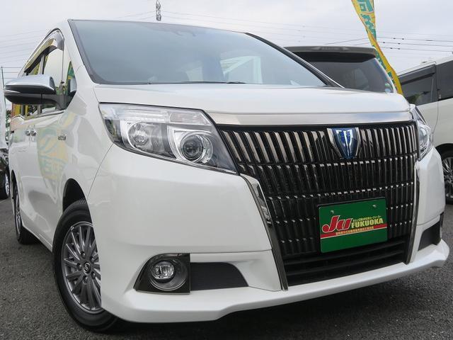 トヨタ 2年保証付HV-Giブラックテーラード両側自動黒革後モニタ-