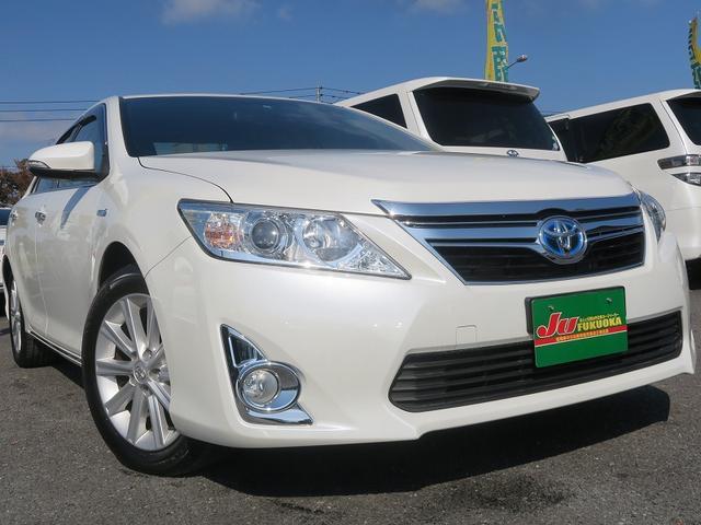 トヨタ 2年保証付HV-Gパッケージ地デジナビスマートキー革巻ステア