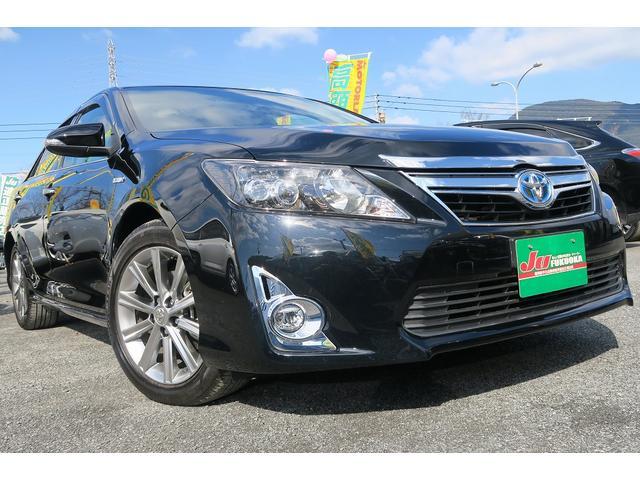 トヨタ HV-Gプレミアムブラック地デジ黒ハーフレザーアルミスマート