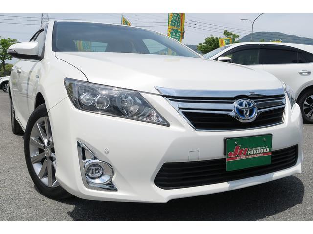 トヨタ HV-GパッケージプレミアムブラックHレザー地デナビ保証渡