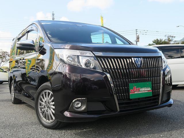 トヨタ HV-Giブラックテーラード1オ-ナ-黒革両側自動後モニター