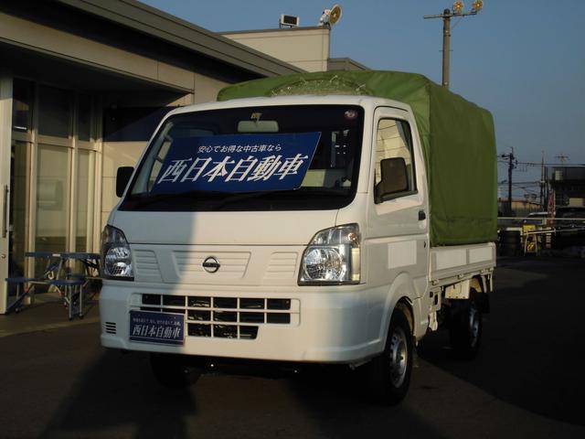 日産 NT100クリッパートラック DX 純正ラジオ ヘッドライトレベライザー 三方開 ホロ付き 運転席エアバック エアコン