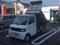 ミニキャブトラック鬼銀ダンプ 4WD 5MT エアコン付 荷台ステンレス