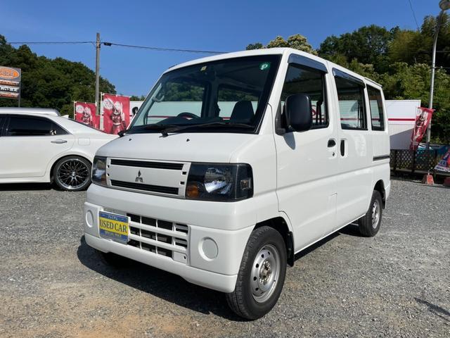 三菱 ミニキャブバン CD 4WD 両側スライドドア ホワイト エアコン パワステ ロールーフ