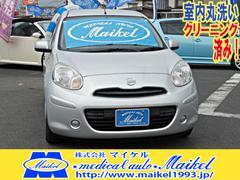 マーチ12S ナビ新品 キーレス オートマ CDステレオ