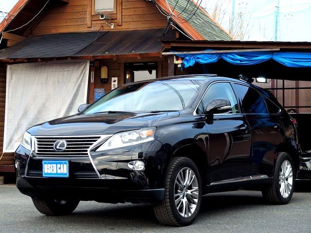 レクサス RX450h バージョンL 保証付 サンルーフ 黒革シート