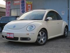 VW ニュービートルLZ ベージュ本革シート サンルーフ リアコーナーセンサー
