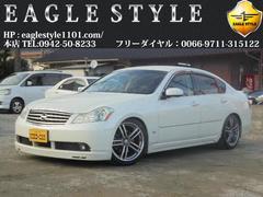 フーガ350GT・外エアロ・車高調・純DVD・黒半革・Tチェーン式