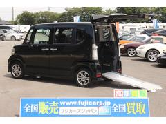 N BOX+カスタム福祉車両 スロープ 電動ウインチ スマートキー メモリーナビ