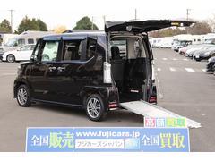 N BOX+カスタム福祉車両 スロープ 車椅子1基 電動ウインチ ナビ HID